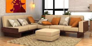 Wooden Sofa Sets Online  Buy Solid Wood Sofa Set Upto  OFF - Teak wood sofa set designs