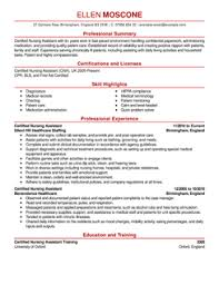 certified nursing assistant resume example nursing assistant