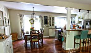 Kitchen Open To Dining Room by Open Concept Kitchen U0026 Living Room In A Split Level Lots Of