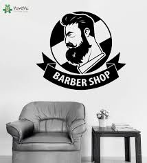 online shop barber shop logo wall sticekrs man beauty salon wall