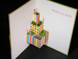 pop out birthday cards birthday cake pop up card great idea for a birthday card