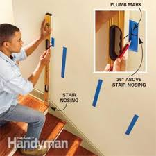 How To Install A Stair Banister Install A New Stair Handrail Family Handyman