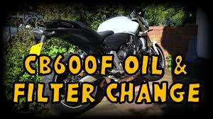 how to change oil u0026 filter honda cb600f youtube