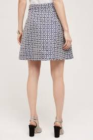 hutch cloverdale mini skirt in blue lyst