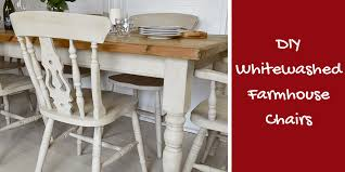 diy how to white wash dining chairs for a rustic farmhouse look