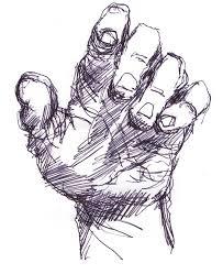drawn sketch partially pencil and in color drawn sketch partially