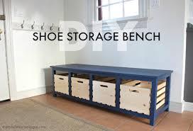 Bench With Shoe Storage Diy Shoe Storage Bench Jaime Costiglio