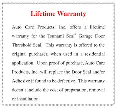 Exterior Door Seals Thresholds by Auto Care Com Tsunami Seal Garage Door Threshold Seal Garage