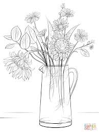 bouquet of flowers coloring page with pages glum me