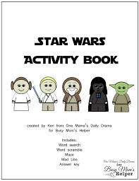 Printable Activity Book Star Wars Printable Activity Book Busy Moms Helper