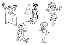 danny phantom characters coloring pages batch coloring