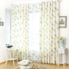 Blue And White Floral Curtains White Printed Blue Cotton And Linen Country Brief Floral Curtains
