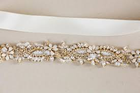 bridal belt gold and opal rhinestone bridal belt millieicaro style r23