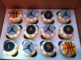 michael cake toppers fondant basketball cupcake toppers by cakesinfinity on etsy