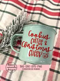 coffee cup silhouette png cookies coffee and christmas cheer svg dxf eps png cut file u2022 cricut u2022