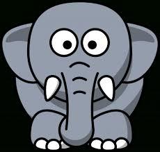 cartoon drawings elephants drawing sketch library