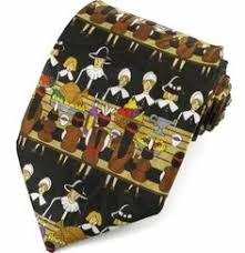 thanksgiving ties new thanksgiving mens necktie turkey dinner pilgims indians