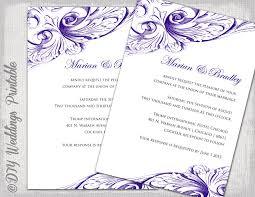 regency wedding invitations wedding invitation template eggplant diy wedding invitations