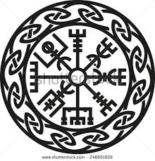 simple norse tattoo vegvisir icelandic compass protection celtyckie pinterest