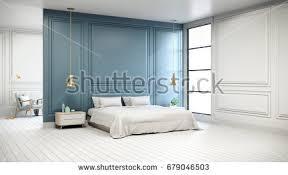 Interior Of Bedroom Image Loft Vintage Interior Living Room Blue Stock Illustration