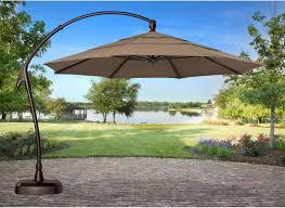 11 Patio Umbrella Treasure Garden 11 Ft Cantilever Offset Sunbrella Patio Umbrella