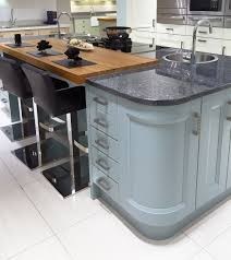 Kitchen Island Worktops Uk Contemporary Kitchen Island Design In Blue With Curved Units