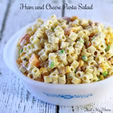 Pasta Salad Recipes Cold by Ham And Cheese Pasta Salad That U0027s My Home