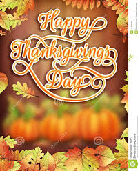 thanksgiving day card with pumpkin eps 10 stock vector