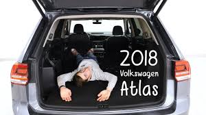 volkswagen atlas trunk 2018 volkswagen atlas review youtube