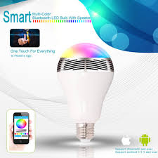 Color Led Light Bulbs by Bluetooth Color Changing Led Light Bulb With Speaker