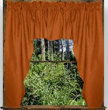 Rust Colored Curtains Color Swag Window Valance 45