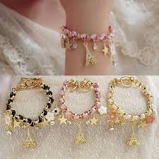 gold chain leather bracelet images Famshin new hot sell fashion jewelry multielement gold chain jpg