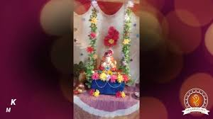 Home Ganpati Decoration Kavita Unkule Home Ganpati Decoration Video U0026 Ideas Www Ganpati