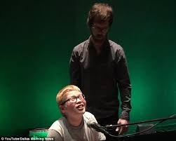Blind Pianist Ben Folds Meets 11 Year Old Blind And Autistic Piano Player Ahead