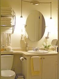 Bathroom Wall Mirror Ideas Alluring Desaign Bathroom Mirror Ideas Under Small Pednant Lamp On