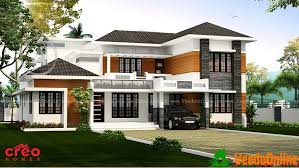 2809 Sq Ft Contemporary Double Floor Home Design Veeduonline