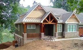 craftsmen home rugged craftsman home for a sloping lot 17650lv architectural