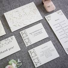 enclosure cards white laser cut wedding invites with matching enclosure
