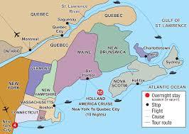 Halifax Canada Map by New York City U0026 Atlantic Canada Cruising