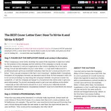 How To Write The Best Resume by Working On Your Cover Letter Awesome For How To Write The Best