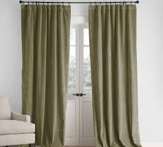 Pottery Barn Drapery Panels Kelly Green Velvet Curtains