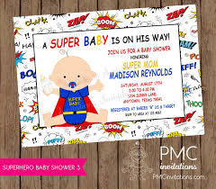 marvel baby shower baby shower invitations 1 00 each with envelopes