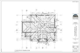 design grouphoang residence sheet a205 upper roof framing plan