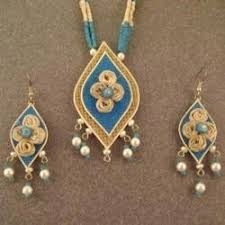 jute earrings jute jewellery in mumbai maharashtra jute jewelry patsan ke