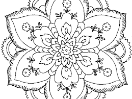 extremely creative flower coloring pages 8 delightful design