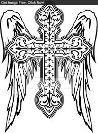breakthrough cross with wings coloring pages of hearts 15299