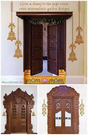 appealing pooja room door designs in wood images best