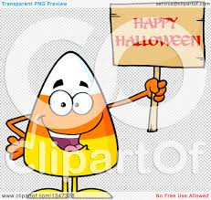 halloween clip art with transparent background clipart of a cartoon candy corn character holding up a happy