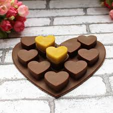 chocolate heart candy silicone 3d heart shape cake mold heart design muffin sweet candy