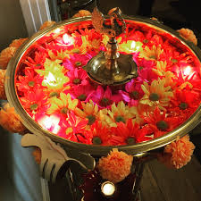 diwali decor urli flowers diwali pinterest decoration puja